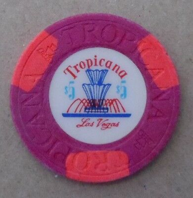 old TROPICANA 2nd issue  $5 Casino Chip   Fountain issue early 70's -  vintage