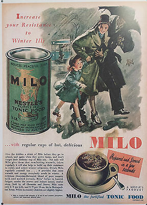 Milo Advertisement  Metal Reproduction Sign (164)