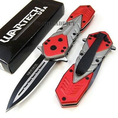 """7.5"""" Red Tactical Combat Spring Assisted Open Pocket Knife YCS8367RD-T"""