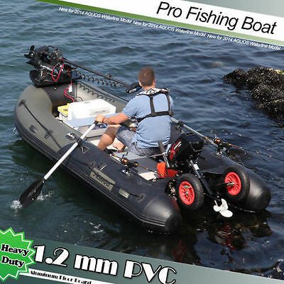 1.2mm PVC 3.3 m Inflatable Boat Inflatable Rafting Fishing Dinghy Tender Pontoon