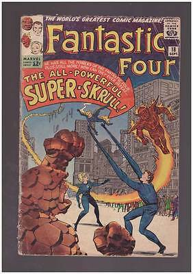 Fantastic Four # 18  The All-Powerful Super-Skrull  grade 2.5 scarce hot book !!