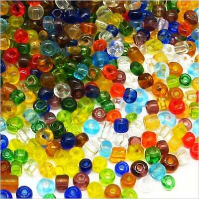 Lot Mix 1000 Perles de Rocailles en verre Transparent 4mm 100g (6/0)
