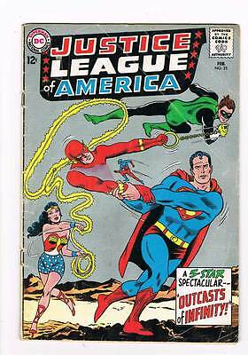Justice League of America # 25 Outcasts of Infinity ! grade - 3.5 hot scarce !
