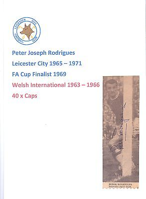Peter Rodrigues Leicester City 1965-1971 Original Hand Signed Picture Cutting