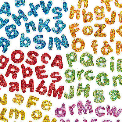 Glitter Foam Self Adhesive Letters for Kid's Crafts & Card Making (Pack of 850)