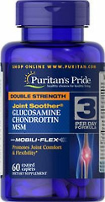 GLUCOSAMINE, CHONDROITIN & MSM JOINT SOOTHER 1500MG HIGH STRENGTH PURITANS (x60)