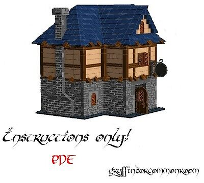 Lego Custom Inn Tavern Prancing Pony Lord of the Rings Hobbit INSTRUCTIONS ONLY!