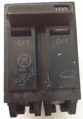 General Electric 2 Pole 100Amp Type Thqb Circuit Breaker