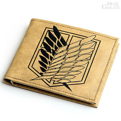 USA Seller Cosplay Attack on Titan Recon Corps Purse PU Leather Wallet