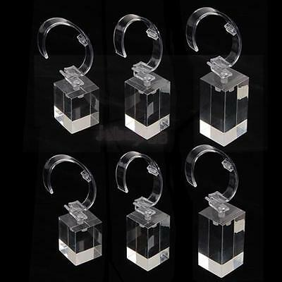 lot 6 Clear Acrylic Detachable BRACELET WATCH Jewelry Display Holder Stand Rack