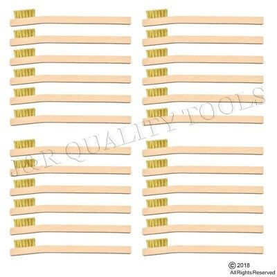 24 Pack Brass Wire Brush Tooth Brushes