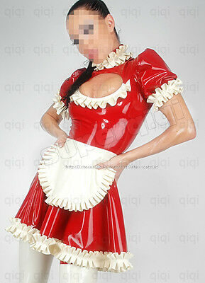 Latex/Rubber 0.45mm Maid Uniform Dress outfits catsuit