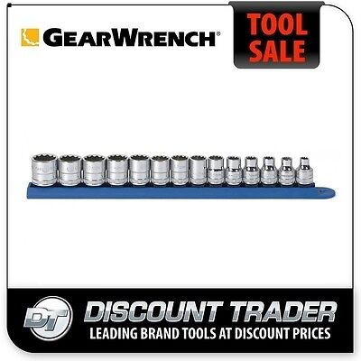 "GearWrench 14 Piece 3/8"" Drive 12 Point Standard Metric Socket Set 80560"