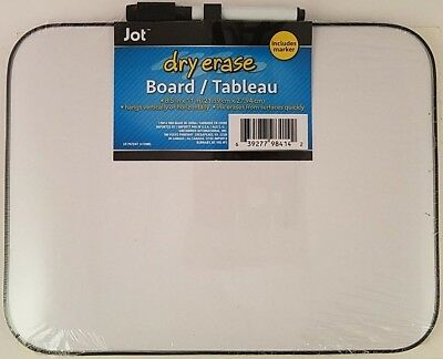 "DRY ERASE WHITEBOARD with Marker 8.5"" x 11"" LIGHT DUTY White Board"