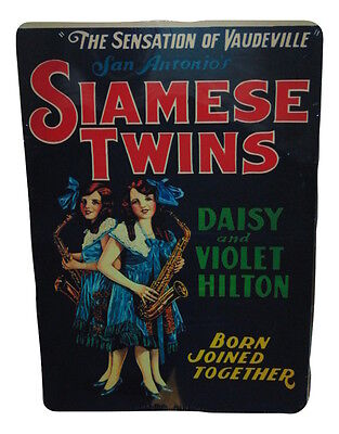 The Hilton Sisters Siamese Twins Sign 8 X 12 Inches New Aluminum Freak Show