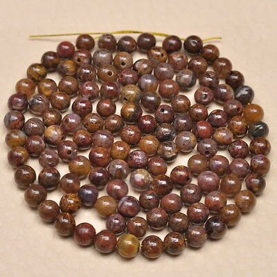 5MM - 4.5MM NATURAL PIETERSITE GEMSTONE ROUND BEADS