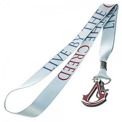 Assassin's Creed Logo Lanyard Key Chain Anime Manga Licensed MINT