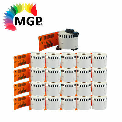 20+1 Compatible for Brother DK-22205 Continuous Orange Roll 62mm x 30.48m QL570