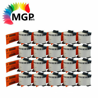 20 Compatible for Brother DK-22205 Continuous Orange Roll -62mm x 30.48m QL570
