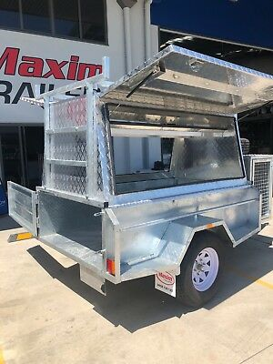 NEW ALLOY TRADESMAN TRAILER 7x4  OFFROAD GALVANISED ALUMINIUM CANOPY TOP