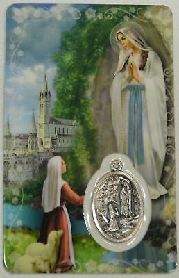 OUR LADY OF LOURDES, Window Prayer Card & Charm, 54mm x 85mm, Inspirational Card