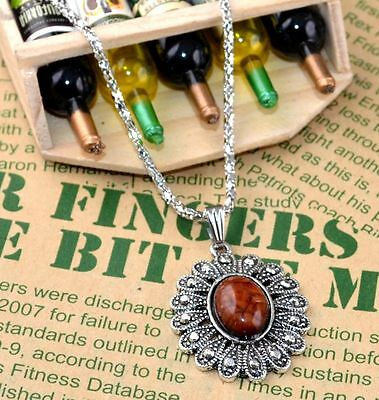 New Classical Natural hot resin cute tibet silver Necklace+Pendant H-1415