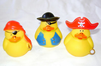 NEW PIRATE BATH RUBBER DUCKS WITH HATS, PATCHES etc - CUTE! 6, 12 or 48 SET PW