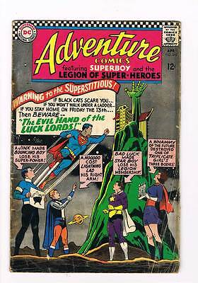 Adventure Comics # 343  The Evil Hand of the Luck Lords  grade 3.0 Silver age DC