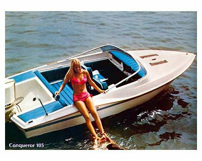 1975 Chrysler Conqueror 105 Power Boat Factory Photo ud0142