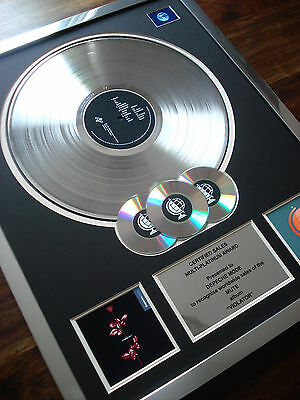 Depeche Mode Violator Multi Platinum Disc Record Award Lp
