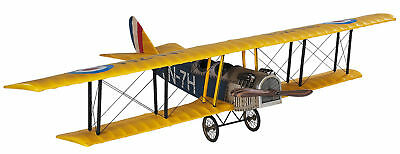 "WWI Curtiss Jenny JN-7H Biplane Classic Barnstormer Wood Model 20"" Airplane"