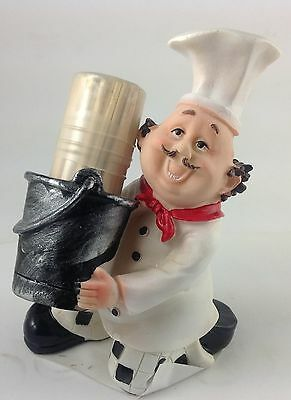 Chef Fat Italian  Decor Toothpick holder Bistro cooking.   Nice Gift