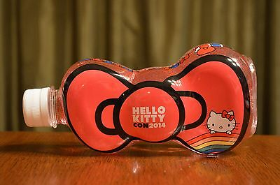 NEW Hello Kitty Con 2014 40th Anniversary Exclusive Bow Shaped Water Bottle