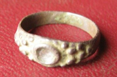 Authentic Artifact > Tudor Period Bronze Wedding RING SZ: 3 1/4 US 14.25mm 11845