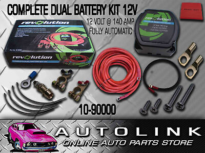 Complete Dual Battery Kit 12V 140A Electronic Isolator Fully Automatic Suit 4Wd