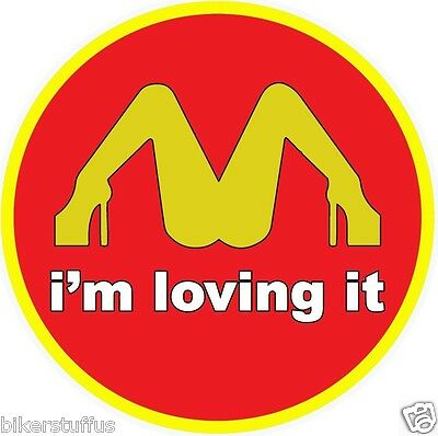I'm Loving It Bumper Sticker Laptop Sticker Toolbox Sticker Round Window Sticker