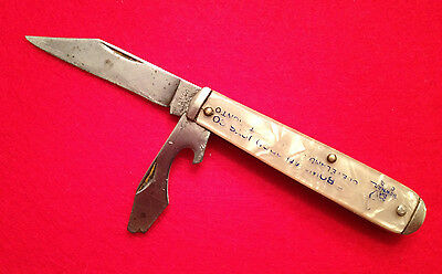 VINTAGE CAMCO ADVERTISMENT  POCKET KNIFE PEARLY HANDLE BOWMAN PRODUCT CO