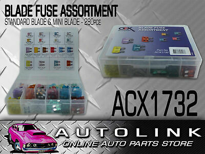 Oex Acx1732 Standard & Mini Blade Fuse Kit For Car 4Wd 4X4 280Pc In Plastic Case