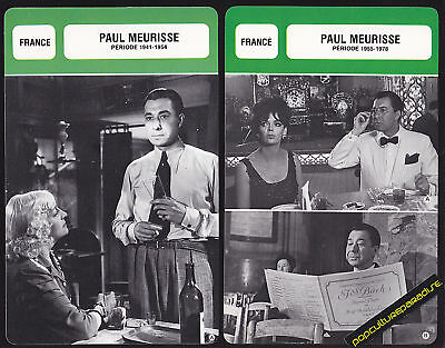 PAUL MEURISSE Movie Star FRENCH BIOGRAPHY PHOTO 2 CARDS