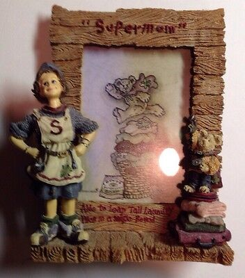 "Boyds Folkstone # 27452 ""Domestica..Supermom"" Photo Frame"