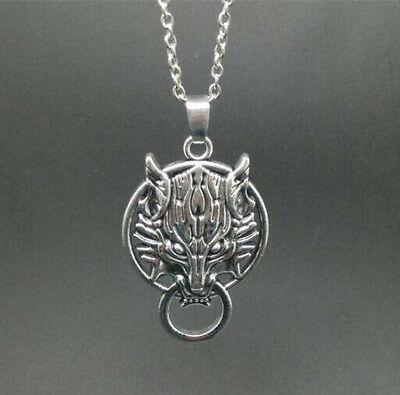 silver Wolf Head leaf pendant alloy necklace women girl necklace friend gift!@1