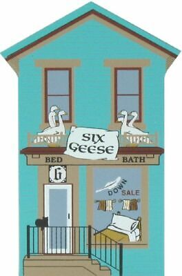 Cat's Meow Village 12 Days Christmas Six Geese Bed Bath Shop #00-433 NEW