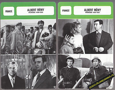ALBERT REMY Movie Star FRENCH BIOGRAPHY PHOTO 2 CARDS