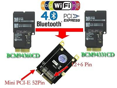 New Tablet PC PCI-E Mini PCI Express Adapter for BCM94360CD BCM94331CM