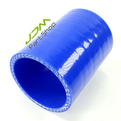 """Silicone STRAIGHT Connector Joiner Turbo Hose Pipe 3"""" 76mm 3 inch 6605 BU"""