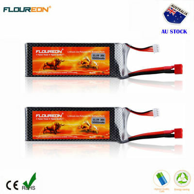 2Pcs 3S 35C 11.1V 5500mAh Deans LiPo Battery Pack for RC Car Helicopter Airplane