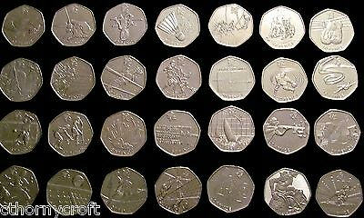 London 2012 Olympics 50p Coin Archery Basketball Cycling Equestrian Sailing