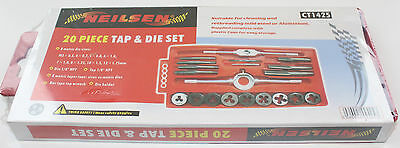 20 Piece Metric Tap and Die Set in Case Steel Thread Tool M3 to M12 NEW
