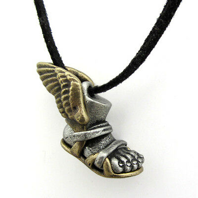 Winged Sandal with Foot Talaria Hermes (Greek God) Necklace