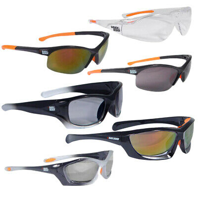 x2 Adult Black & Decker Eyewear Protective Safety Glasses Mirrored Clear/Tinted